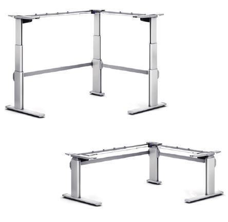 Electric 3 Sit To Stand Corner Workstation