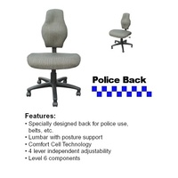 Police Back Ergonomic Chair