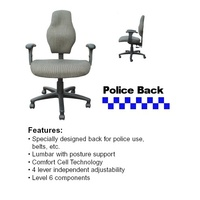 Police Back Chair with Arms